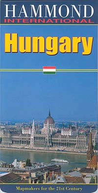 Hungary Road and Shaded Relief Tourist Map.