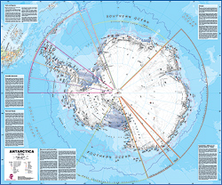 Antarctica WALL Map.