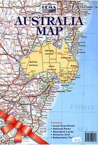 "Australia ""Envelope"" Road and Tourist Map."