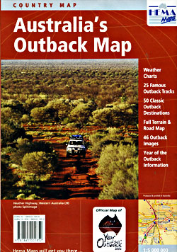 Australia's Outback Road and Tourist Map.