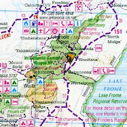 Central Australia Regional Road and Tourist Map, Australia.