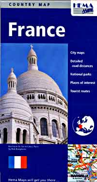 Hema Road Map of France, Detailed, Travel, Tourist