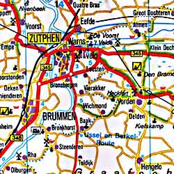 Netherlands Road and Shaded Relief Tourist Map.