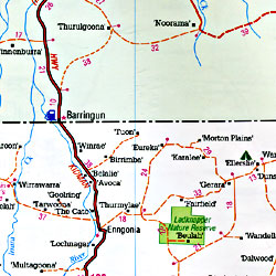 New South Wales State, Road and Tourist Map, Australia.