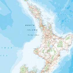 New Zealand WALL Map.