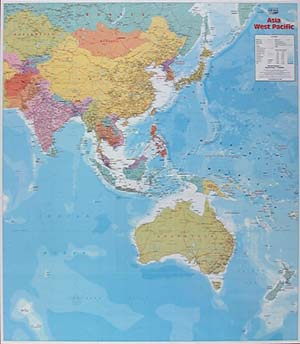 Western Pacific and Eastern Asia, Political Reference Map.