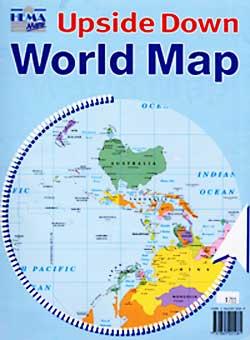 World Upside Down Map.