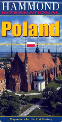 Poland Road and Tourist Map.