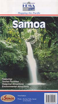 Western Samoa, Road and Tourist Map.