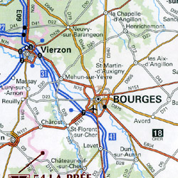 France, Abbeys & Cistercian Sites, Road and Tourist Map.