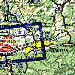 France, Northeast, Aeronautical Map.