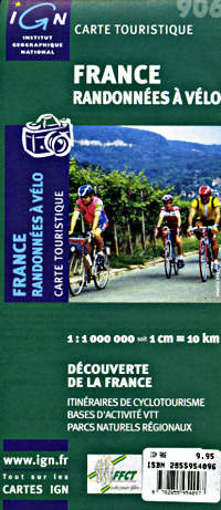 France Bicycling Map.