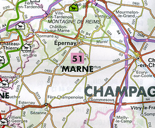 France, Equestrian & Tourist Sites, Road and Tourist Map.
