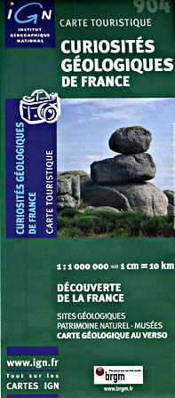 France Geologic Sites, Road and Tourist Map.