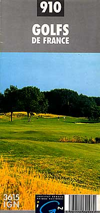 France, Golf Courses, Road and Tourist Map.