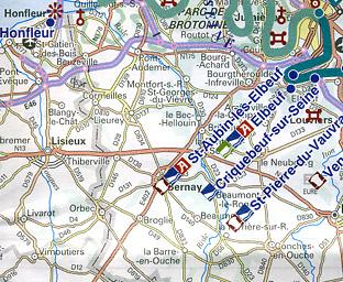 France Inland WATERWAYS Map.