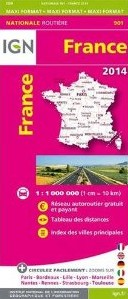 France Roads and Motorways Tourist Map.
