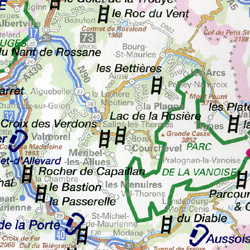 France, Climbing Sites, Road and Tourist Map.