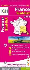 France, Southeast, Aeronautical Map.