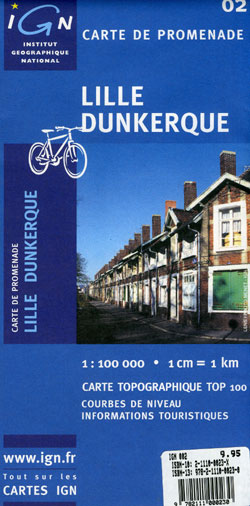 Lille and Dunkerque Section Map.