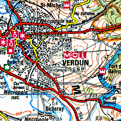 Reims and Verdun Section Map.