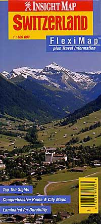 "Switzerland ""Flexi"" Road and Tourist Map."