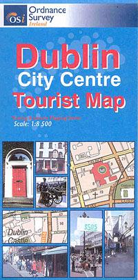 DUBLIN City Centre Tourist Map, Ireland.
