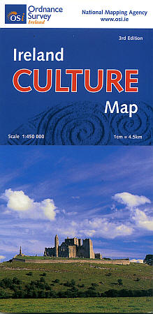 "Ireland ""Culture"" Road and Shaded Relief Tourist Map."