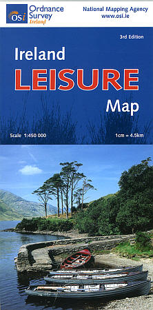 "Ireland ""Leisure"" Road and Shaded Relief Tourist Map."