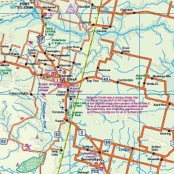 Alaska Highway Road Atlas, America.