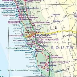 Hawaii & Honolulu Road and Tourist Map, America.