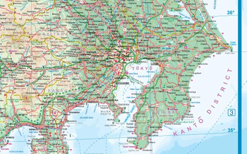 Japan WALL Map.