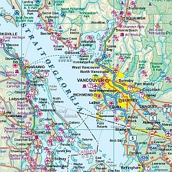 Western & Northern Canada Tourist Road ATLAS.