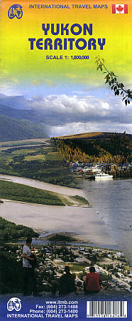 Yukon Territory Road and Physical Travel Reference Map, Canada.