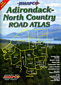 Adirondack and North County Road ATLAS, New York, America.