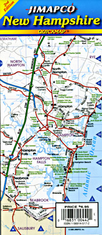 "New Hampshire ""Quickmap"" Road and Tourist Map, America."
