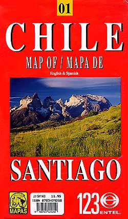 Chile Road Map and Santiago City Street Map.