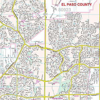 Colorado Springs WALL Map.