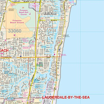 Fort Lauderdale & Broward Co WALL Map, America.