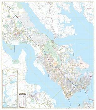 Virginia Peninsula WALL Map.