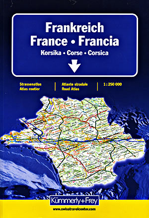 France, Belgium, and Luxembourg, Tourist Road ATLAS.