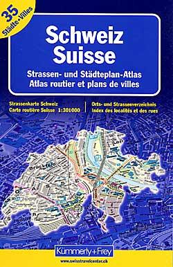 Switzerland Tourist Road ATLAS and City ATLAS combination.
