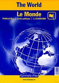 "World Political ""Folded"" WALL Map."