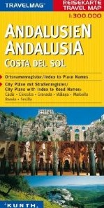 Andalucia and Costa Del Sol Road and Topographic Tourist Map.