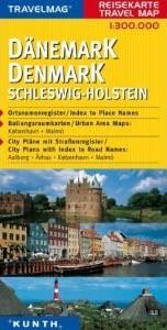 Denmark Schleswig-Holstein Road and Tourist Map.
