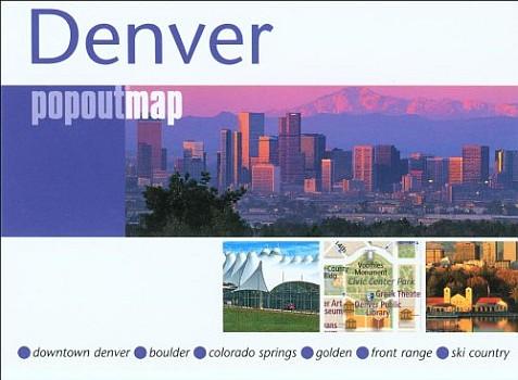 Denver Popout Street Map, Colorado, America.