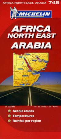 Africa Northeast and Arabia Road and Tourist Map.