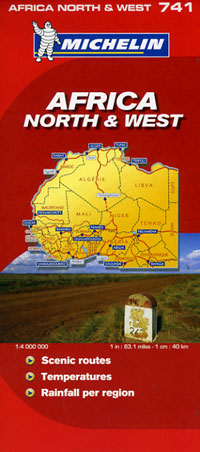 Africa Northwest Road and Tourist Map.