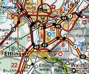 Germany, Benelux, Austria, and Switzerland, Tourist Road ATLAS.
