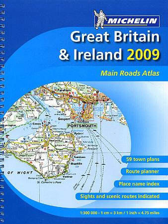Great Britain and Ireland Tourist Road ATLAS.